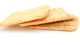 Crackers. Isolated on white background Stock Images