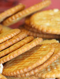 Crackers. Close up shallow depth of field shot of crackers Royalty Free Stock Photo