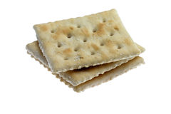 Crackers. Salty crackers isolated on white Royalty Free Stock Photos
