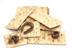 Crackers and anchovy Stock Photography