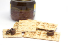 Crackers and anchovy Stock Image