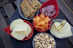Crackers and appetizers Royalty Free Stock Image