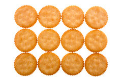 Crackers background. Crackers placed as a background Stock Photos