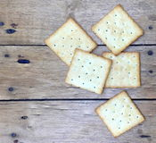 Crackers. Crackers, biscuit, background, cookie, square, food, baked, object, snack, breakfast, closeup, healthy, salt, fat, bread, cheese, yellow, nobody Stock Images