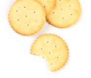 Crackers with a bite Royalty Free Stock Photos