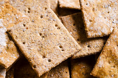 Crackers with bran Royalty Free Stock Photos
