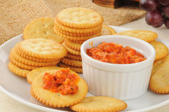 Crackers and bruschetta Stock Photography