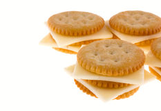 Crackers with cheese stock photos