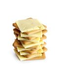Crackers With Cheese Royalty Free Stock Images
