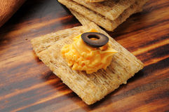 Crackers and cheese Stock Images