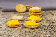 Crackers and Cheese with Milk Royalty Free Stock Photo