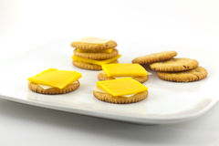Crackers and Cheese Stock Photography