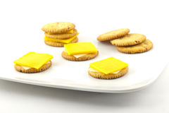 Crackers and Cheese Royalty Free Stock Images