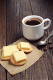 Crackers with coffee cup Stock Photos