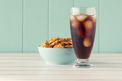 Crackers and cola Stock Photos