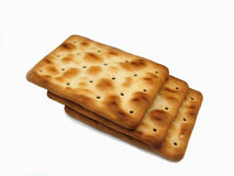 Crackers cookies 1. An isolated three crackers cookies Royalty Free Stock Photos