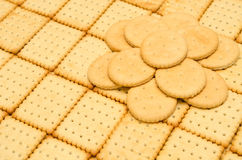 Crackers crispy biscuits Stock Photos