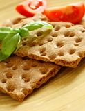 Crackers, diet breakfast Stock Image