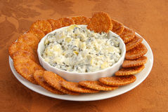 Crackers and dip Stock Image