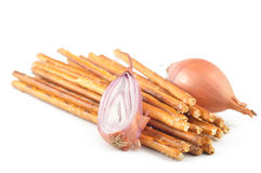 Crackers flavored onions Royalty Free Stock Photos