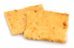 Crackers. Group on white background Royalty Free Stock Photo