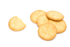 Crackers isolated over white background Stock Photo