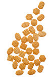 Crackers isolated over white Stock Photography