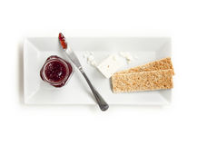 Crackers and Jam Stock Image
