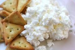 Crackers met Kwark Stock Afbeeldingen