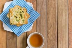 Crackers met plantaardige vlokken Royalty-vrije Stock Foto