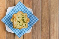 Crackers met plantaardige vlokken Royalty-vrije Stock Afbeeldingen