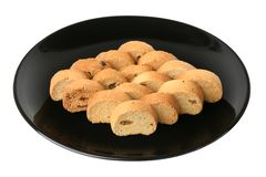 Crackers met rozijn stock fotografie
