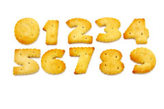 Crackers met zout Royalty-vrije Stock Fotografie