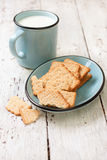Crackers  and  mug of milk Royalty Free Stock Photo