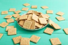 Crackers op een plaat Royalty-vrije Stock Foto