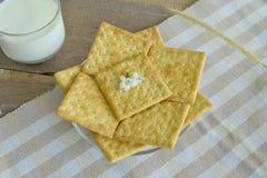 Crackers op plaat 2 Royalty-vrije Stock Fotografie