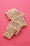 Crackers op Rood Stock Fotografie