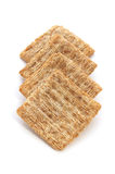 Crackers over Wit Stock Afbeeldingen
