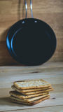 Crackers and pan Stock Photography
