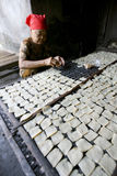 Crackers. People are making crackers in a village in Sukoharjo, Central Java, Indonesia Stock Images
