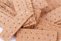 Crackers. Pile of crackers with sesame seeds close-up picture Royalty Free Stock Images