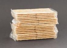 Crackers in plastic Stock Image