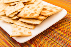 Crackers on a plate Stock Photo