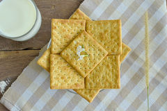 Crackers on the plate Royalty Free Stock Photography