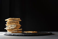 Crackers on a plate Royalty Free Stock Image