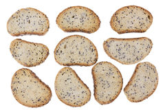 Crackers with poppy seeds Stock Images