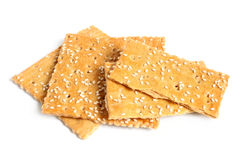 Crackers with sesame Stock Photography