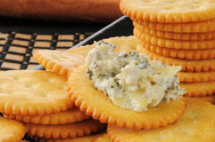 Crackers with spinach artichoke dip Royalty Free Stock Image