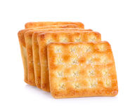 Crackers with sugar  on the white background Royalty Free Stock Image