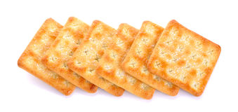 Crackers with sugar  on the white background Royalty Free Stock Images
